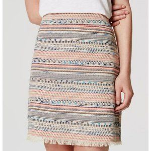 EVERYTHING $5! LOFT tweed fringe mini skirt